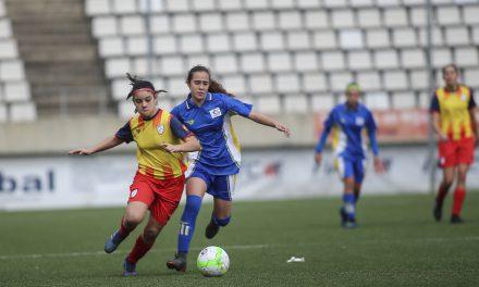 Beatriz Borrego Fleitas, jugadora de la Selección Canaria Femenina Sub-15 de Fútbol: «Desde pequeña me ha encantado jugar al fútbol y ahora estoy en la Selección, es un sueño»