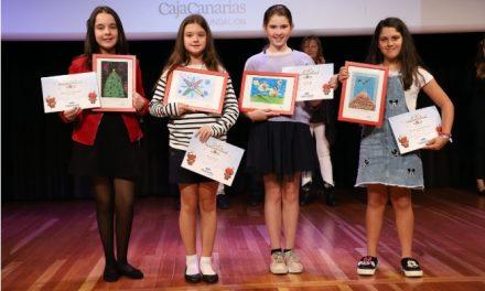 ESPECIAL NAVIDAD Y AÑO NUEVO 2019: La alumna Almudena Machado Rodríguez, ganadora del Premio 50ª Concurso de Tarjetas de Navidad Fundación CajaCanarias