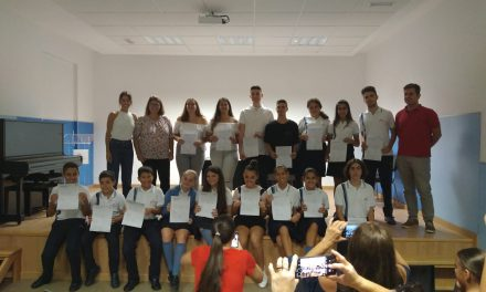 Los alumnos y alumnas del Colegio Virgen del Mar reciben sus certificados de Goethe Academy