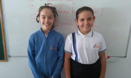 Daniela Hernández e Ithaisa Mendoza, alumnas de 5º de Primaria opinan sobre la Feria Planetaria, organizada por 1º de ESO