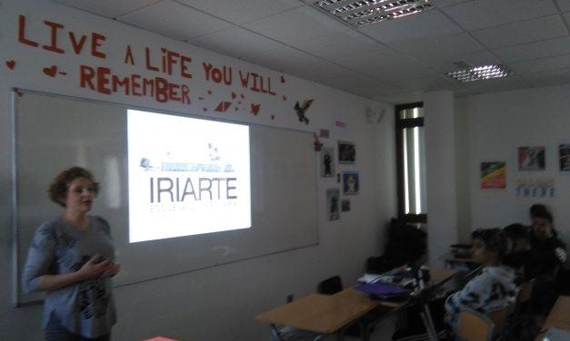 La Escuela Univesitaria de Turismo Iriarte ofrece una charla a los alumnos de Bachillerato