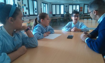 Nace Radio Colegio Virgen del Mar: Los alumnos de 3º de Primaria graban un programa sobre su visita al Palmetum el pasado viernes