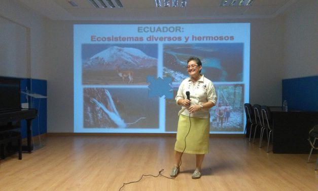 Monserrat García, Misionera Hermana Comboniana ofrece una charla a los alumnos de 4º, 5º y 6º Primaria