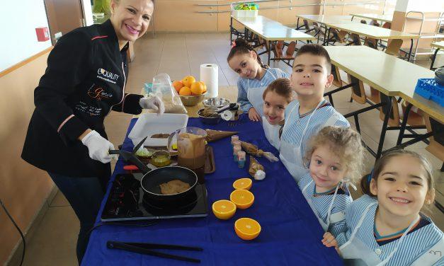 El «Proyecto Chiquichef de SM» cocina con los alumnos de Infantil del Colegio Virgen del Mar