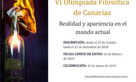 Dos alumnos de 1º de Bachillerato participan en la VI Olimpiada Filosófica de Canarias