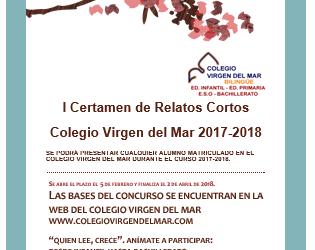 II Certamen de Relatos Cortos «Colegio Virgen del Mar»: El plazo de entrega de trabajos se cierra el próximo viernes 12 de abril