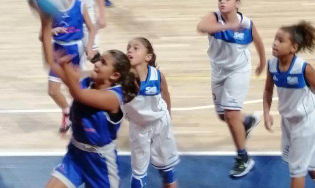 Marta Morín Suárez, jugadora de Preminibasket en el Colegio Virgen del Mar