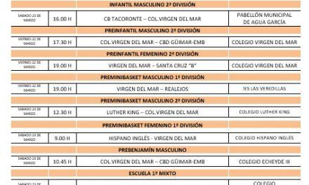 El CB. Colegio Virgen del Mar prepara su próxima jornada