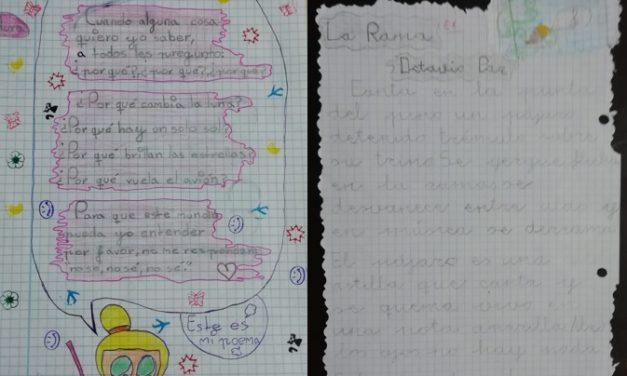 Los mejores del proyecto «Juglares y Trovadores» en 3º C de Primaria: Lucía Rodríguez y Aura Marina