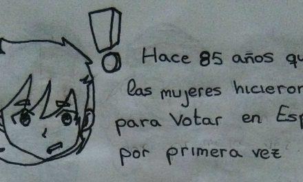 """Mi viñeta: """"Hace 85 años, comenzamos a votar"""", por Marta Salido"""